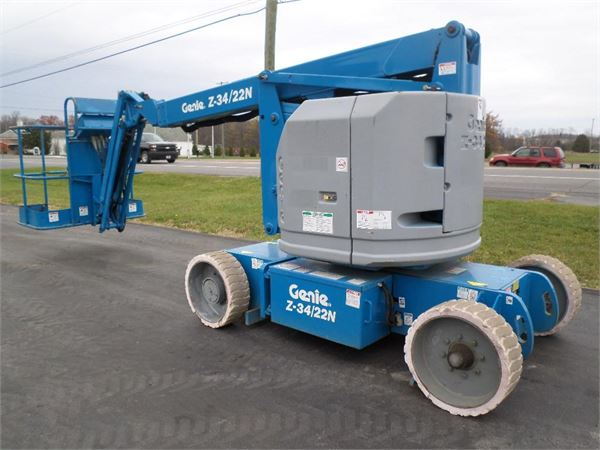 Genie z34 22n electric cherry picker access plus spec sheet machine brochure sciox Gallery